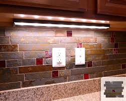 Rusty Brown Slate Mosaic Backsplash by Rusty Slate Subway Mosaic Red Glass Kitchen Backsplash Tile