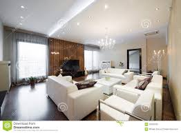 spacious living room interior of a modern spacious living room stock photo image