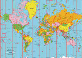 Map Of World Time Zones Map Of Just The Time Zones Rebrn Com