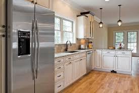 white kitchen cabinets with appliances including ideas backsplash