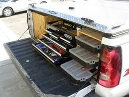 diy toolbox storage in a pickup truck
