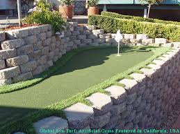 Putting Green In Backyard by Synthetic Turf Supplier Oxnard California Best Indoor Putting