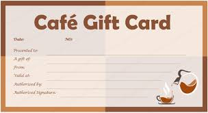 cafe gift card template for microsoft word