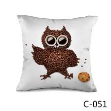aliexpress com buy coffee lovers coffee bean owl throw or bed