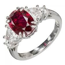 ruby diamond ring suchy 2 96 carat oval ruby diamond platinum engagement