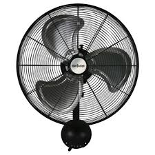 wall mounted rotating fan hurricane pro high velocity oscillating metal wall mount fan 20 in