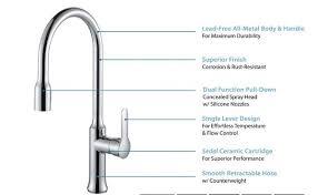 allora kitchen faucet allora a 715 bn kitchen faucet single single handle pull