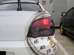 tail light smoke kit 06 07 subaru impreza and wrx and sti sedan smoked taillight and tbl kit