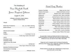Wedding Ceremony Program Free Wedding Program Templates Intended For Wedding Ceremony