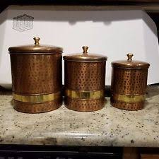 copper canisters kitchen copper kitchen canister sets ebay
