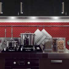 interior smart tiles murano cosmo in w x in h peel and stick red