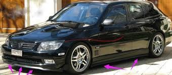lexus altezza is200 aliexpress com buy novovisu bumper lip deflector for lexus