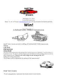 raffle 700r4 transmission