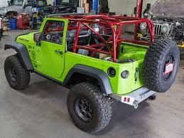 jeep wrangler unlimited half doors jk 2 door full roll cage kit genright jeep parts