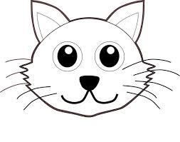 coloring cute kitten face drawing cat drawings coloring