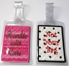 unique luggage tags in the hoop luggage tags luggage tag insert set embroidery