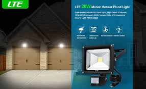 Outdoor Flood Light Fixtures Waterproof Lte 20w Led Motion Sensor Floodlight Outdoor Bright Security
