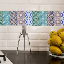 kitchen portuguese tiles stickers maceira pack of 16 tile decals
