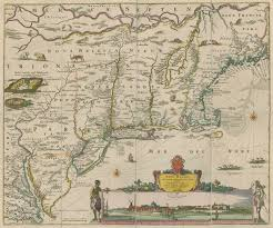 New England Map by Maps And The Beginnings Of Colonial North America Digital