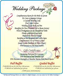 wedding packages leyte park resort hotel special packages