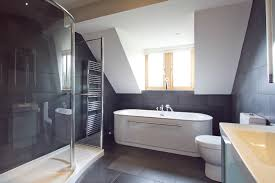 Black Slate Bathrooms Photo Of Contemporary Modern Dark Grey Grey White Slate Tile
