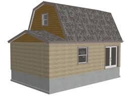 Floor Plans For Sheds by G455 Gambrel 16 X 20 Shed Plan Free House Plan Reviews