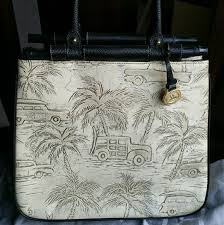 brahmin brahmin creme copa cabana palm tree tote from