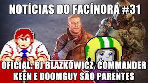 Doom Guy Meme - bj blazkowicz commander keen e o doomguy são parentes notícias do