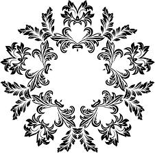clipart decorative ornamental floral flourish design 6