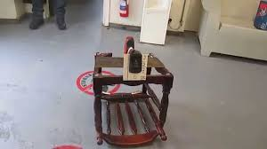 Electric Rocking Chair Rocking Chair Powered By A Battery Operated Electric Drill Made By