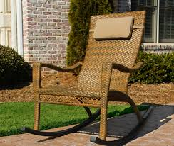 Outdoor Patio Rocking Chairs Maracay Wicker Rocking Chair Tortuga Outdoor Of Georgia