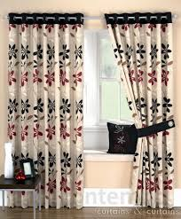 Standard Patio Door Size Curtains by Ariel Red Black Ready Made Eyelet Curtain Curtains Uk