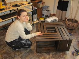 Wine Crate Coffee Table Diy wine crate table rixen it up