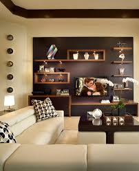 gorgeous coffee table with ottomans underneath in family room