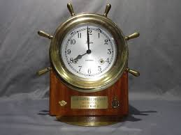 vintage chelsea clock u002786 boston shipstrike brass wood