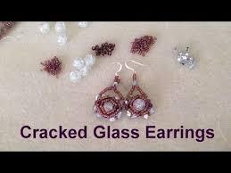 beginner earrings cracked glass earrings beginner tutorial earring s