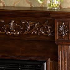 espresso electric fireplace binhminh decoration