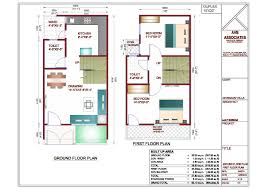 Duplex Home Plans 6 Duplex House Plan In 20x30 Site With Car Parking And 2 Master