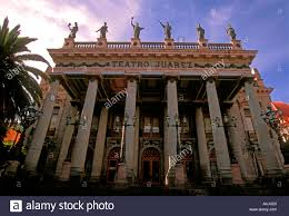 juarez theater teatro juarez neoclassical architecture stock