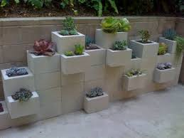 Cinder Block Decorating Ideas by Garden Awesome Picture Of Decorative Stacked Light Gray Cinder