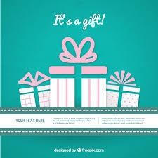 birthday gift card vector premium download