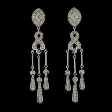 diamond chandelier vintage diamond chandelier earrings 66mint estate jewelry