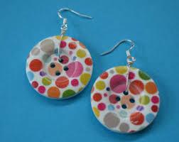 button earrings button earrings etsy