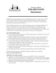 Related Experience Resume Resume For Phlebotomy Technician Resume For Your Job Application