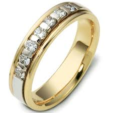 two tone wedding rings 47243e 18kt two tone diamond wedding ring