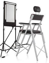 portable makeup chair with side table the portable makeup chair with side table is the professional