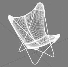 Bkf Chair 3d Bkf Butterfly Chair High Quality 3d Models