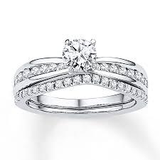 white gold bridal sets diamond bridal set 7 8 ct tw cut 14k white gold