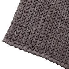 tappeti da bagno set 2 tappeti bagno di design tender tresse grigio