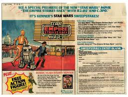 1980 star wars sweepstakes color advertisement from the los